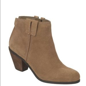 Sam Edelman Laredo Beige Leather Ankle Boots